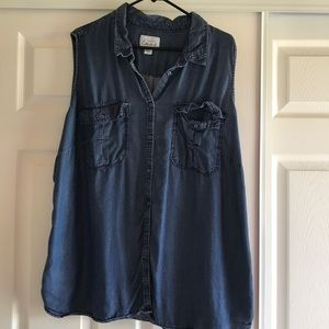 Sleeveless shirt, 2X